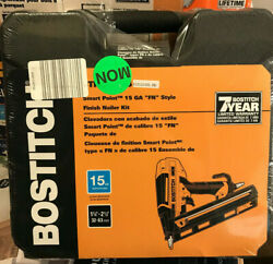 Bostitch Btfp72156 Fn Smart Point 15 Ga Angled Finish Nailer, 1-1/4 To 2-1/2