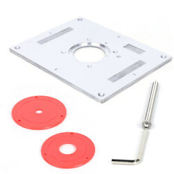 Aluminum Precision Router Table Insert Plate Multi-function Inserting Plate Tool