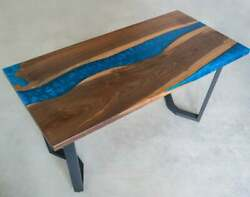 Epoxy Table Wood Epoxy Table Blue Resin Epoxy Coffee Table / Dining Table Decor