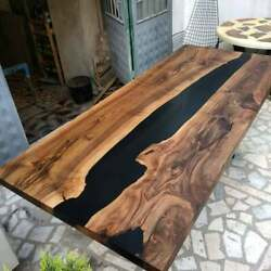 Epoxy Resin Table Top Wood And Resin Conference Table Live Edge River Coffee Top