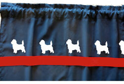 Cairn Terrier Dog Cotton Window Valance Curtain Choice Colors Design And Valance