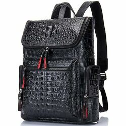 Backpack for Men Leather with Crocodile Design $134.99