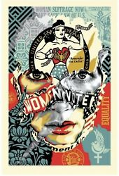Sandra Chevrier X Shepard Fairey The Beauty Of Liberty And Equality Print X/200