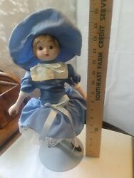 Antique Porcelain Head Doll 3/4 Arms And Legs Sawdust Stuffed Body Mint Condition