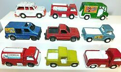 Old Tootsie Toy, Assorted Trucks And , 1969-1970, Metal And Plastic, 9 Pieces