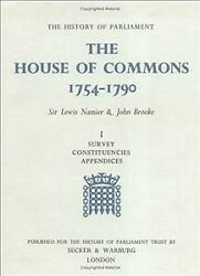 House Of Commons 1754-1790 Hardcover By Namier Lewis Brooke John Brand ...