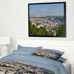 Designart And039kiev Cityscape Panoramaand039 Photography Framed Small