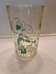 Welchandrsquos Jelly Glass 1962 Flintstones Fred And His Pal At Work - Green/barney Emb
