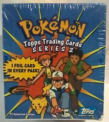 Pokemon Topps Trading Cards Series 2 Booster Box 36 Packs Factory Sealed Rare