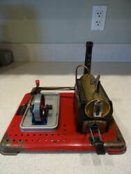 Vintage Mamod Se2a Stationary Live Steam Engine Reversing With Whistle