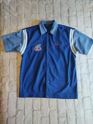 The Simpsons Pin Pals Springfield Bowling Embroidered 2002 Homer Shirt Sz Large