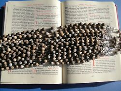 Job's Tears Rosary Lot Of 12 Rosaries St. Pope John Paul Ii With Blessing