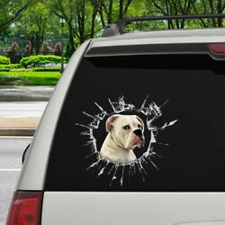 Boxer Car Sticker Boxer 3D Realistic Decal Dogs Lover Car Stickers Wrap 12x12quot;
