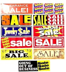 Retail Store 28 Long ⭐ Sale Advertising Window Posters ⭐ Business Sign Banners