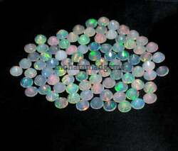 Natural Ethiopian Opal 6x6 Mm Round Faceted Amazing Aaa Fire Opal Loose Gemstone