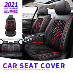 Full Set Car Seat Covers Leather For 2007 2021 Chevy Silverado GMC Sierra 1500 $138.99