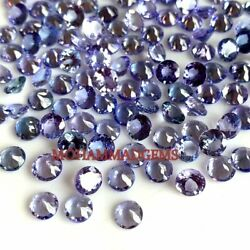 Natural Tanzanite 5x5 Mm Round Faceted Loose Gemstone Lustrous Faceted Certified