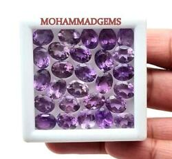 100 Natural Amethyst 5x7 Mm Oval Faceted Loose Gemstone Amazing Stone