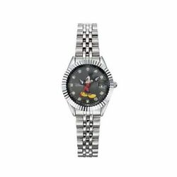 Wristwatch Mickey Mouse Metal Cubic Ow619dwb For Women