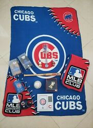 Chicago Cubs And Bears Collectibles Lot Includes Autographed Bat, Ball, Watch Etc.