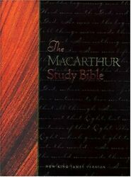 Macarthur Study Bible-nkjv Leather / Fine Binding Book The Fast Free Shipping