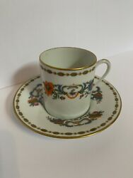 A.raynaud Vieux Cine Limoge Fine China Demitasse Cup And Saucer France