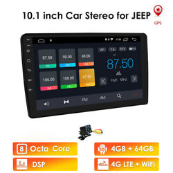 10android10 Car Gps Radio Stereo 4+64gb For Jeep Dodge Chrysler 4glte Wifi Bt5.