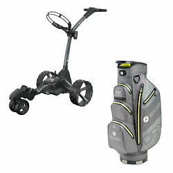 Motocaddy M7 Dhc 4 Wheel Golf Caddy Cart With Carrying Golf Club Cart Bag Lime