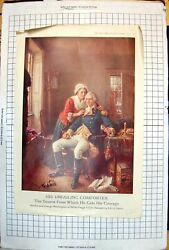 Old Print Martha And George Washington Valley Forge 1777 Mr Roosevelt 1917 18th