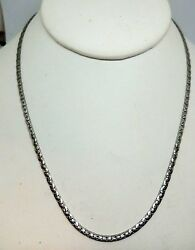 Sterling Silver Serpentine Link Chain Necklace 20 Long 925