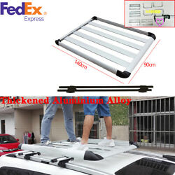 Silver Thickened Aluminium Alloy Car Roof Racks And Boxes Luggage Frame 14090cm