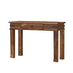 Classic Evergreen Sheesham Wood Modern Solid Wood Console Table/desk With Drawer