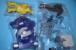 1997 Lost In Space Long John Silvers Dolls Figures Complete Set Movie Tv