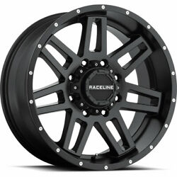 4- 20x9 Black Raceline Injector Cpr9 6x5.5 And 6x135 -12 Wheels 275/55r20 Tires