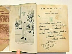 1931 Bill Mccoy Rum Runner Signed Book The Real Mccoy Very Scarce 1st Edition