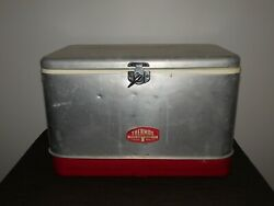 Vintage Picnic 22 X 13 1/2 X 14 High Thermos Brand Beer Cooler Deluxe Model