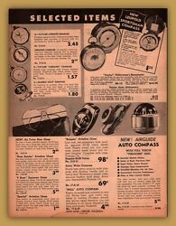 1954 Ad Sports Compass Leupold Taylor Airguide Marble Auto Compass Hull