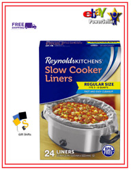 Reynolds Slow Cooker Liners 24 pk. Free Shipping.