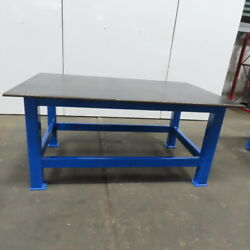 3/4 Thick Top Steel Fabrication Welding Layout Table Work Bench 78lx48wx36h