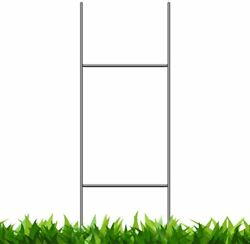 Heavy Duty Metal H-stakes H Frame Wire Stakes - Yard Sign Stake - Use With 4mm C