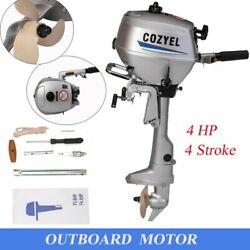 Heavy Duty Inflatable Boat Motor 4hp 4stroke Outboard Engine Motor Water Cooled