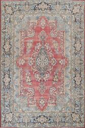 Antique Vegetable Dye Kirman Hand-knotted Palace Size Area Rug Oriental 11'x14'