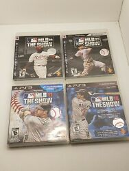 Playstation Ps3 Video Game Mlb The Show 08, 09, 10, 11 Lot 4 Games Bundle 3