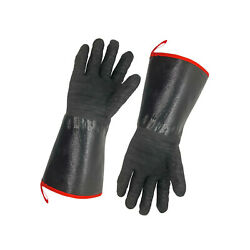 1pair Bbq Grill Gloves Barbecue Silicone Heat Resistant Oven Mitts Kitchen Bakin