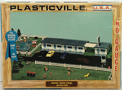 Vintage Retro Bachmann Plasticville Ho Scale Motel With Pool 2903-198