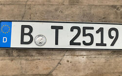 Real German License Plate From Germany Berlin Free Shipping Worldwide