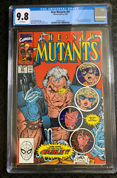 New Mutants 87 First Appearance Of Cable Cgc 9.8 White Pages Marvel