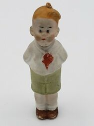 Early Antique 1920's German Bisque Comic Nodder Skeezix Marked Germany