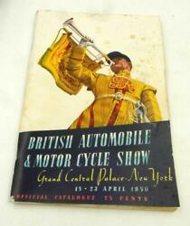 1950 British Automobile And Motor Cycle Show Nyc Official Program