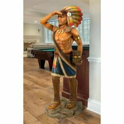 Life Size 4 Ft Thomas Brooks 1875 Cigar Store Indian Tobacconist Statue Replica